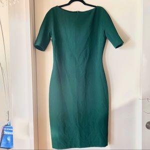 Deep green ZARA midi-dress
